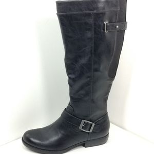 Black Riding Boots stretch top Tall worn once LN